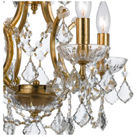 Crystorama 4454-GA-CL-S Filmore 4 Light 18 inch Antique Gold Mini Chandelier Ceiling Light in Antique Gold (GA), Clear Swarovski Strass alternative photo thumbnail