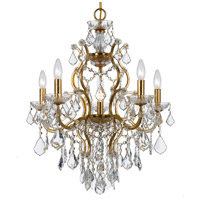 Filmore 6 Light 23 inch Antique Gold Chandelier Ceiling Light in Swarovski Spectra (SAQ), Antique Gold (GA)