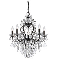 Crystorama Filmore 6 Light Chandelier in Vibrant Bronze 4455-VZ-CL-S