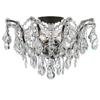 Crystorama Filmore 5 Light Semi-Flush Mount in Vibrant Bronze with Swarovski Elements Crystals 4457-VZ-CL-S