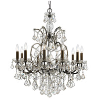Crystorama Filmore 10 Light Chandelier in Vibrant Bronze, Swarovski Elements 4458-VZ-CL-S