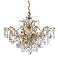 Crystorama 4459-GA-CL-S Filmore 6 Light 27 inch Antique Gold Chandelier Ceiling Light in Antique Gold (GA) Clear Swarovski Strass