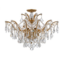 Crystorama 4459-GA-CL-SAQ_CEILING Filmore 6 Light 27 inch Antique Gold Semi Flush Mount Ceiling Light in Swarovski Spectra (SAQ), Antique Gold (GA)