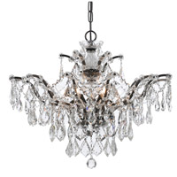 Crystorama Filmore 6 Light Chandelier in Vibrant Bronze 4459-VZ-CL-SAQ