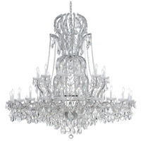 Crystorama 4460-CH-CL-MWP Maria Theresa 37 Light 64 inch Polished Chrome Chandelier Ceiling Light in Polished Chrome (CH), Clear Hand Cut