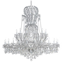 Crystorama 4460-CH-CL-SAQ Maria Theresa 37 Light 64 inch Polished Chrome Chandelier Ceiling Light in Swarovski Spectra (SAQ), Polished Chrome (CH)