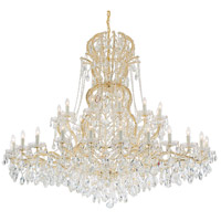 Crystorama Maria Theresa 37 Light Chandelier in Gold, Swarovski Spectra 4460-GD-CL-SAQ