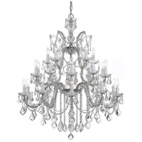 Crystorama 4470-CH-CL-MWP Maria Theresa 26 Light 38 inch Polished Chrome Chandelier Ceiling Light in Polished Chrome (CH), Clear Hand Cut