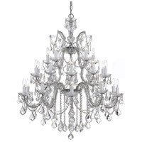 Crystorama 4470-CH-CL-SAQ Maria Theresa 26 Light 38 inch Polished Chrome Chandelier Ceiling Light in Swarovski Spectra (SAQ), Polished Chrome (CH)