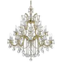 Crystorama 4470-GD-CL-MWP Maria Theresa 26 Light 38 inch Gold Chandelier Ceiling Light in Gold (GD), 25, Clear Hand Cut