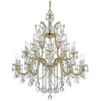 Crystorama 4470-GD-CL-SAQ Maria Theresa 26 Light 38 inch Gold Chandelier Ceiling Light in Swarovski Spectra (SAQ), Gold (GD)