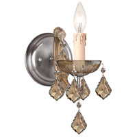 Crystorama Maria Theresa 1 Light Wall Sconce in Antique Brass with Hand Cut Crystals 4471-AB-GT-MWP