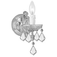 Crystorama 4471-CH-CL-SAQ Maria Theresa 1 Light 5 inch Polished Chrome Wall Sconce Wall Light in Swarovski Spectra (SAQ), Polished Chrome (CH)