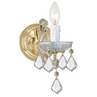 Crystorama Maria Theresa 1 Light Wall Sconce in Gold with Hand Cut Crystals 4471-GD-CL-MWP