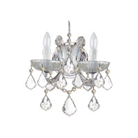 Crystorama 4472-CH-CL-I Maria Theresa 2 Light 11 inch Polished Chrome Wall Sconce Wall Light in Polished Chrome (CH), Clear Italian, 10.5-in Width