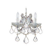 Crystorama 4472-CH-CL-MWP Maria Theresa 2 Light 11 inch Polished Chrome Wall Sconce Wall Light in Polished Chrome (CH) Clear Hand Cut 10.5-in Width
