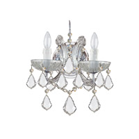 Crystorama 4472-CH-CL-SAQ Maria Theresa 2 Light 11 inch Polished Chrome Wall Sconce Wall Light in Swarovski Spectra (SAQ), Polished Chrome (CH), 10.5-in Width