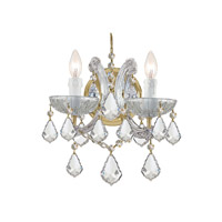 Crystorama 4472-GD-CL-SAQ Maria Theresa 2 Light 10 inch Gold Wall Sconce Wall Light in Swarovski Spectra (SAQ), Gold (GD), 10-in Width