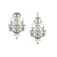 Crystorama Maria Theresa 4 Light Flush Mount in Polished Chrome with Hand Polished Crystals 4473-CH-CL-MWP_FLUSH