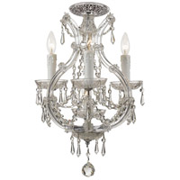 Crystorama 4473-CH-CL-SAQ_CEILING Maria Theresa 4 Light 12 inch Polished Chrome Flush Mount Ceiling Light in Swarovski Spectra (SAQ) Polished Chrome