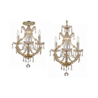 Crystorama Maria Theresa 4 Light Flush Mount in Gold with Swarovski Spectra Crystals 4473-GD-CL-SAQ_FLUSH photo thumbnail