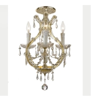Crystorama Maria Theresa 4 Light Flush Mount in Gold with Swarovski Spectra Crystals 4473-GD-CL-SAQ_FLUSH alternative photo thumbnail