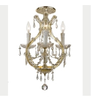 Crystorama Maria Theresa 4 Light Flush Mount in Gold with Swarovski Elements Crystals 4473-GD-CL-S_FLUSH alternative photo thumbnail