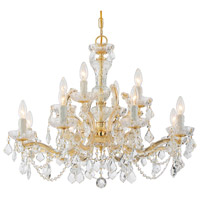 Maria Theresa 12 Light 29 inch Gold Chandelier Ceiling Light in Clear Crystal (CL), Italian Crystals (I), Gold (GD)
