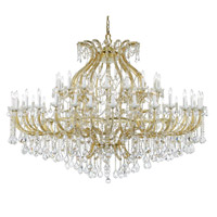 Crystorama Maria Theresa 48 Light Chandelier in Gold 4480-GD-CL-SAQ
