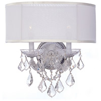 Crystorama 4482-CH-SMW-CL-SAQ Brentwood 2 Light 13 inch Polished Chrome Wall Sconce Wall Light in Swarovski Spectra (SAQ)