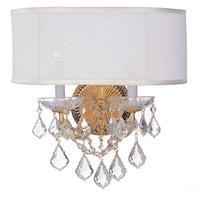 Crystorama Brentwood 2 Light Wall Sconce in Gold 4482-GD-SMW-CL-MWP