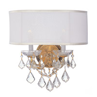 Crystorama Brentwood 2 Light Wall Sconce in Gold 4482-GD-SMW-CL-SAQ