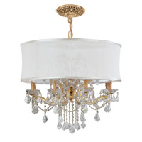 Crystorama 4489-GD-SMW-CLM Brentwood 12 Light 30 inch Gold Chandelier Ceiling Light