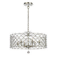Crystorama Willow 6 Light Chandelier in Antique Silver 449-SA
