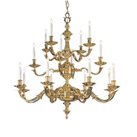 Crystorama Colonial 16 Light Chandelier in Polished Brass 450-PB