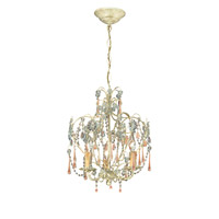 Crystorama Ella 3 Light Chandelier in Champagne with Murano Crystals 4503-CM