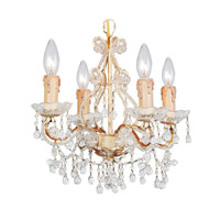 Crystorama Paris Flea Market 4 Light Chandelier in Champagne with Murano Crystals 4504-CM-CLEAR