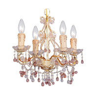 Crystorama Paris Flea Market 4 Light Chandelier in Champagne with Murano Crystals 4504-CM