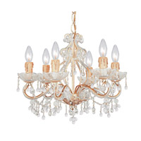 Crystorama Paris Flea Market 6 Light Mini Chandelier in Champagne 4507-CM-CLEAR
