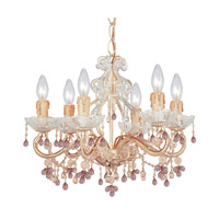 Crystorama Paris Flea Market 6 Light Chandelier in Champagne with Murano Crystals 4507-CM