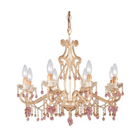 Crystorama Paris Flea Market 8 Light Chandelier in Champagne 4509-CM photo thumbnail