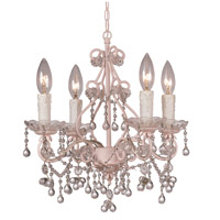 Crystorama Paris Flea Market 4 Light Chandelier in Birch with Murano Crystals 4514-BH-CL