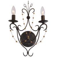 Crystorama Angelina 2 Light Wall Sconce in English Bronze 452-EB