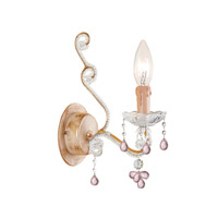Crystorama Paris Flea Market 1 Light Wall Sconce in Champagne 4521-CM