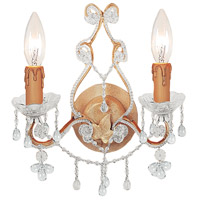Crystorama Paris Flea Market 2 Light Wall Sconce in Champagne 4522-CM-CLEAR