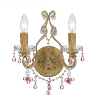 Crystorama 4522-CM-ROSA Paris Market 2 Light 12 inch Champagne Wall Sconce Wall Light
