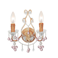 Crystorama Paris Flea Market 2 Light Wall Sconce in Champagne with Murano Crystals 4522-CM