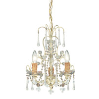 Paris Market 3 Light 12 inch Champagne Mini Chandelier Ceiling Light