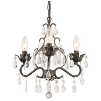Crystorama 4534-EB-CL-MWP Paris Market 3 Light 13 inch English Bronze Mini Chandelier Ceiling Light