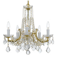 Traditional Crystal 5 Light 20 inch Gold Chandelier Ceiling Light